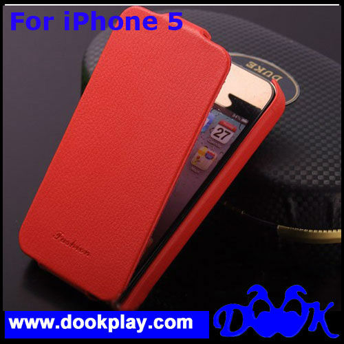 For iPhone 5 Genuine Leather Case