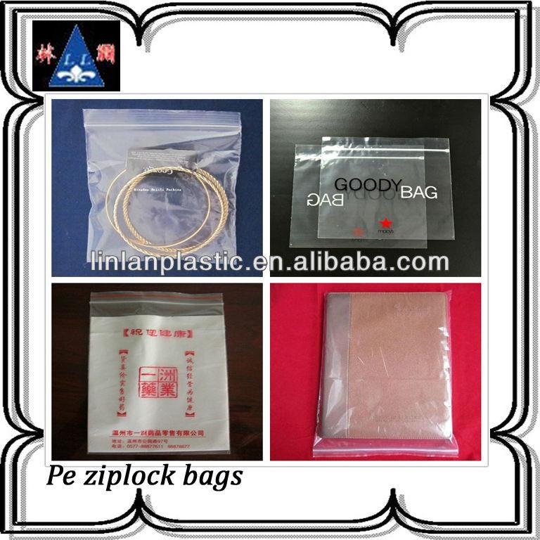 wholesale custom resealable plastic bags pe ziplock plastic bag