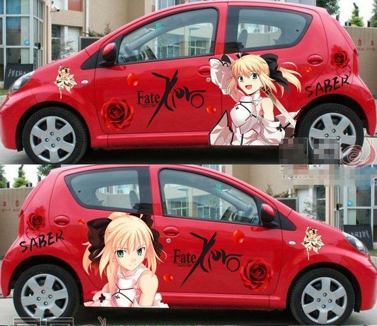 Can Put Anime Stickers Kat Kereta Kah - Car anime stickers
