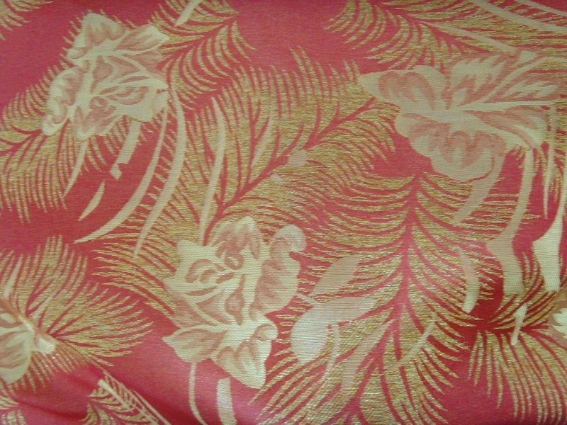 polypropylene and metallic thread woven jacquard mattress fabric