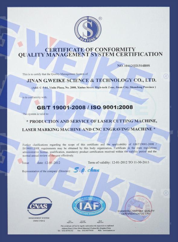 ISO, certifocate 2