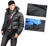 Мужской пуховик Men's ex-heavy down jacket feather black outware coat clothes black parka MD1522