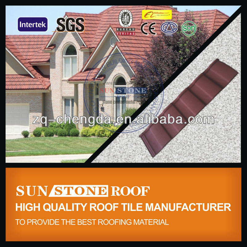Lightweight Roof Stone Coated Metal Asphalt Roofing Tile
