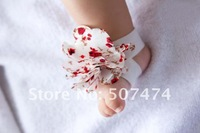 Детский аксессуар для волос F009 Latest design Baby foot flower baby girls flower shape shoe Barefoot Sandals Foot accessories 40pcs=20pair