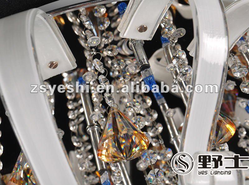 Indoor modern crystal LED chandelier #YC0024-600