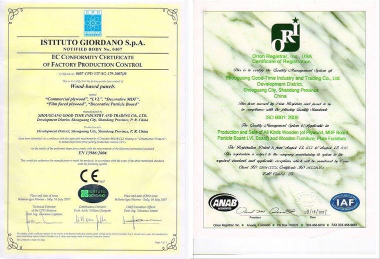 E1/MR glue good quality 4x8' raw or melamine mdf 3mm for door skin