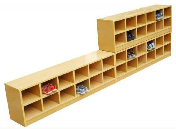 De los ni os de madera zapatos de rack lt 2150h conjuntos for Mueble para guardar zapatos madera