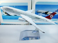 Free Shipping,Airlines plane model,   The Turkish airlines B777, 16cm, metal airplane models,airplane model