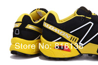 Free shipping Salomon men sport shoes 2013 discount fashion running shoes hot sale good quality Salomon men shoes
