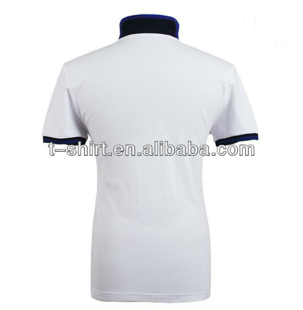 dry fit solid white color polo shirts design customized
