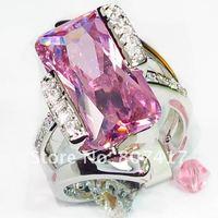 Classic pink fashion 925 Silver RING R561 sz#6 7 8 9