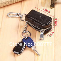 100% Genuine leather key wallets, first layer of cow leather high-quality men's key holders,fashion key chain