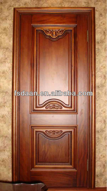 Modern deep carved wooden single door design buy wooden for Single wooden door designs 2016