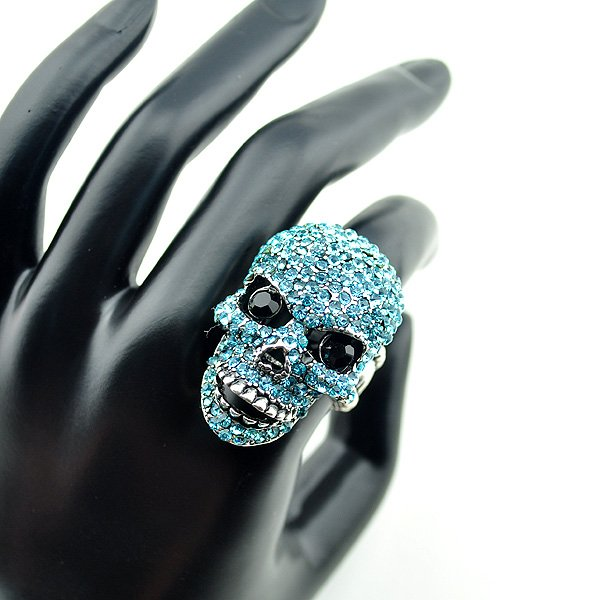 Artilady C2906 hip pop punk skull adjustable ring 8colors hot sell 2012 new desgin gift