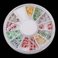 Стразы для ногтей 120 PCS Multicolor Christmas Product Nail Art Nail Tips Slice Nail Rhinestone Decoration Wheel
