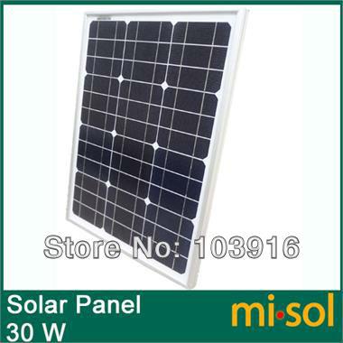 Misol 30w Solar Panel For 12v System Monocrystalline