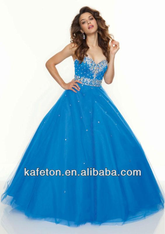 New Fashion 2013 Strapless Royal Blue Shiny Diamond Beaded Western ...