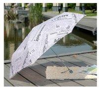 ультралайт творческого карандаш зонтик, английские газеты лицо большой зонтик зонтик