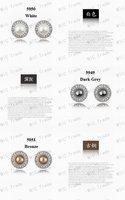 Серьги-гвоздики MIC 18 K & Swarovski 5949