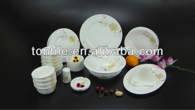 Artistic hotel&restaurant crockery tablewares set elegance tableware