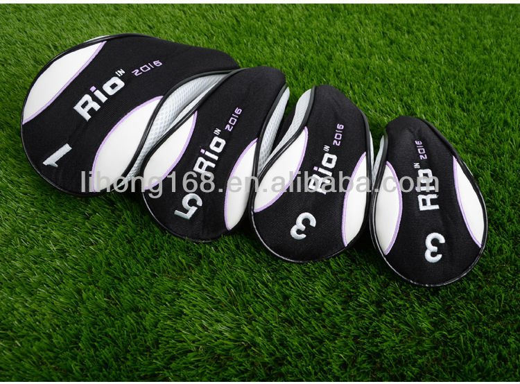 wholesale custom made wooden golf club head covers