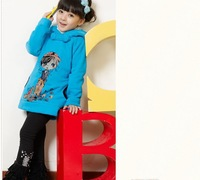 Кофта для девочки Spring and autumn girls' outerwear, children cartoon sweatshirt Wear on both sides# E097