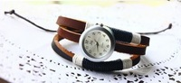 Наручные часы Genuine Cow leather Vintage all handmade Weave watch.TOP quality
