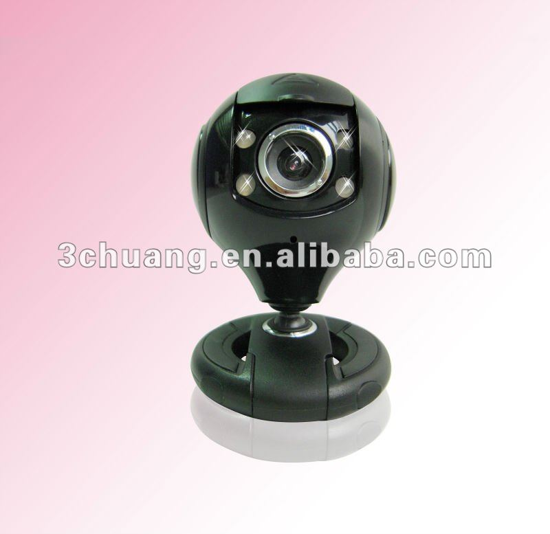 cool shine black pc webcams hd 300K 1.3M 2.0M 5.0M 720p full 1080p with 4 led light night version snapshot web camera SC-841