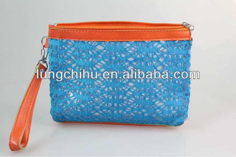Wholesale Nylon Mesh Square Cosmetic Bags,Personalized mesh nylon costmetic bags (LCHCB28)