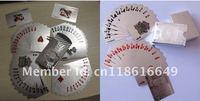Игральные карты 54 silver plated playing card