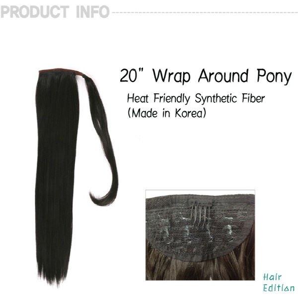 """20"""" Straight Wrap Around Ponytail"""