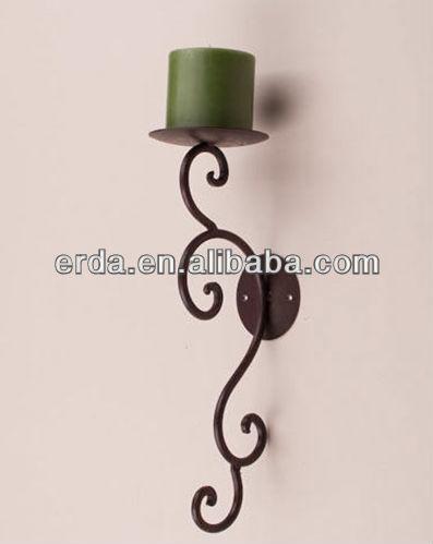 paire m tallique en fer forg applique mur bougeoir chandelier id de produit 713844862 french. Black Bedroom Furniture Sets. Home Design Ideas
