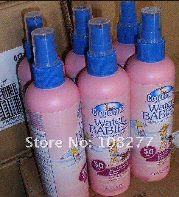 Free shipping water babies atomizing  sunscreen cream, SPF50 236ML 10box/L
