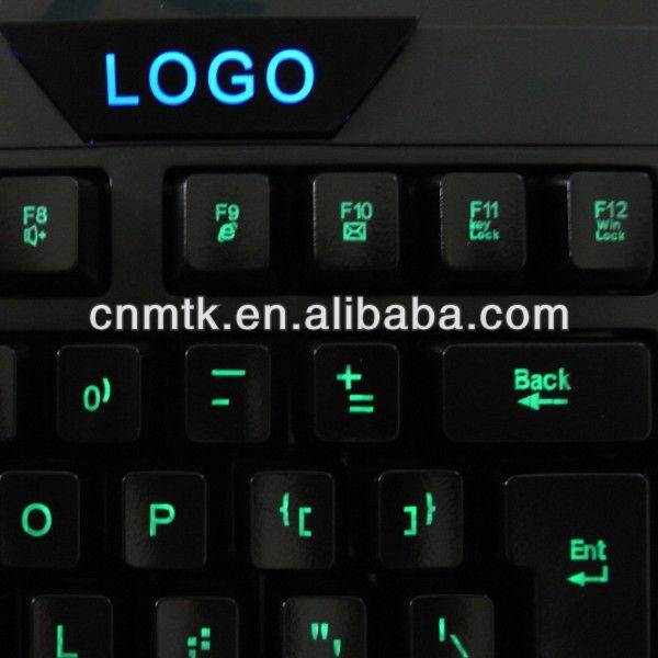 New Cool Multimedia Illuminated Ergonomic LED BackLight USB Wired Gaming Keyboard for Laptop,LED backlite gaming keyboard