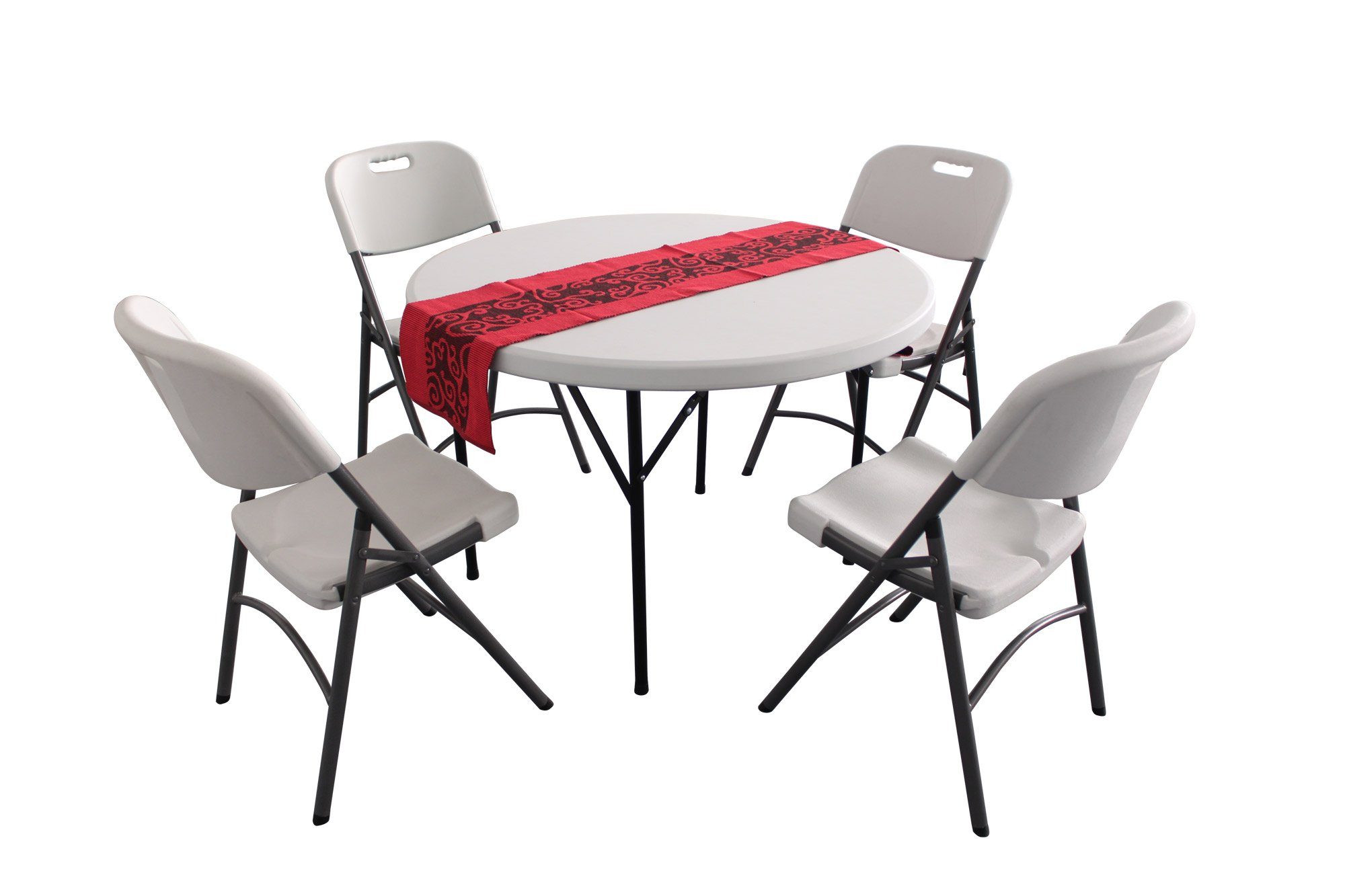 plastic round folding tables and chairs hdpe HY R110 &HY Y60A