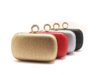 Вечерняя сумка NEW! Ladies' Clutch Knuckle Rings Evening Bag, Party Bag With Chains, Fashion wallet PU Day clutch, AEB192