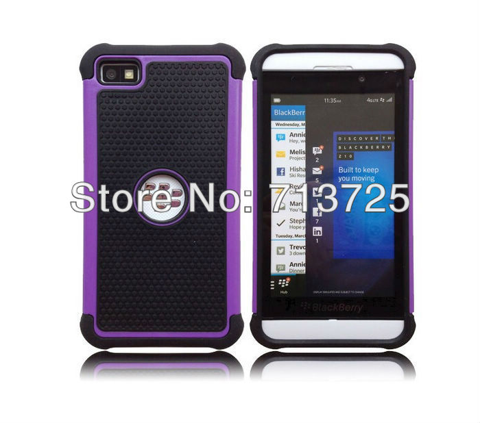 NS-167 Black Berry Z10 3 in 1 Case PC + TPU + Silicon -9