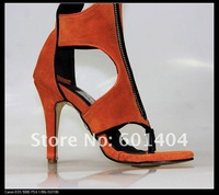 Женские сандалии Fashion Brand Women Sandals Boots Genuine Leather Gladiator Peep-Toe High Heel Shoes 2012 Christmas Sale