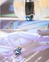 Цепочка с подвеской Letter peach heart crystal necklace