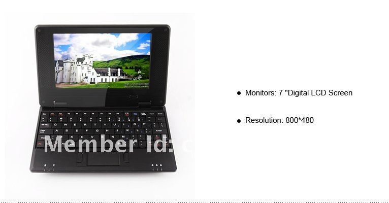 "Promotion!! + DHL UPS Free shipping 7"" VIA8650 netbook WIFI Notebook mini laptop computer  2pcs/lot"