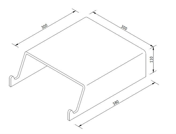 modern acrylic CRT monitor stand or acrylic keyboard stand