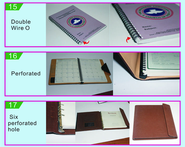 Multifunctional and cheap metal notebook ring binders