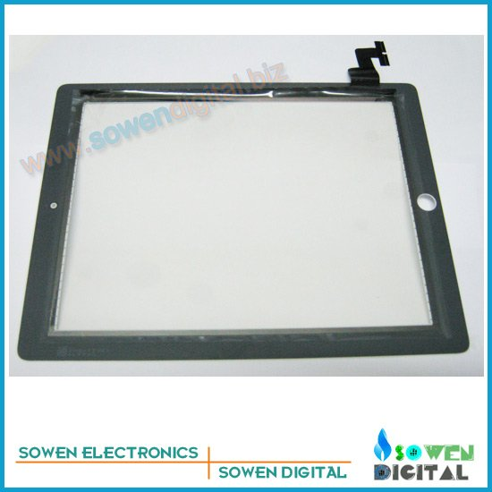 Touch screen for ipad 2 digitizer Touch panel White or Black,OEM digitizer 1set 3M adhesive Free, Free shipping,Best quality
