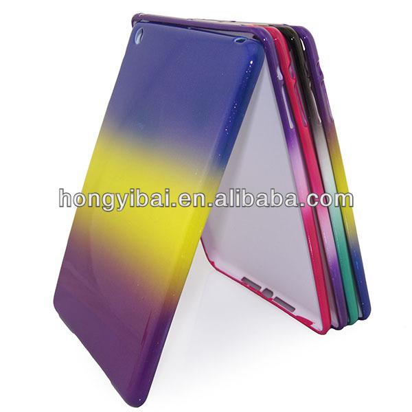 glitter rainbow shockproof tpu phone case for ipad mini