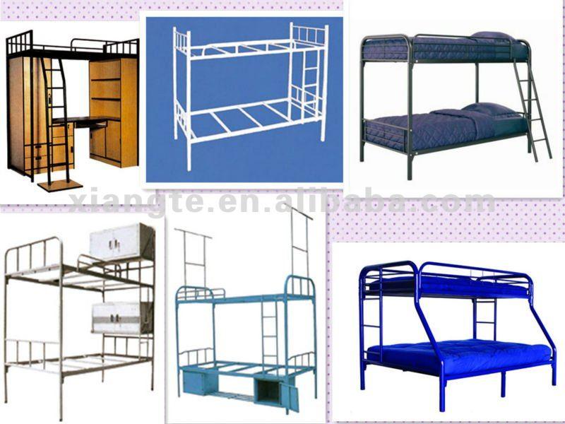 durable de acero estudiante doble literas con escalera muebles de dormitorio