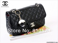 Free shipping,Hot Sale high quality cost promotional wholesale PU chain handbag, latest handbags,purse bag cc bag