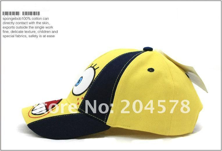 Spongebob Snapbacks http://www.aliexpress.com/item/50pcs-lots-Cotton-embroidery-cartoon-hats-Spongebob-caps-snapback-hat-boy-girl-favorite-cap/482194001.html
