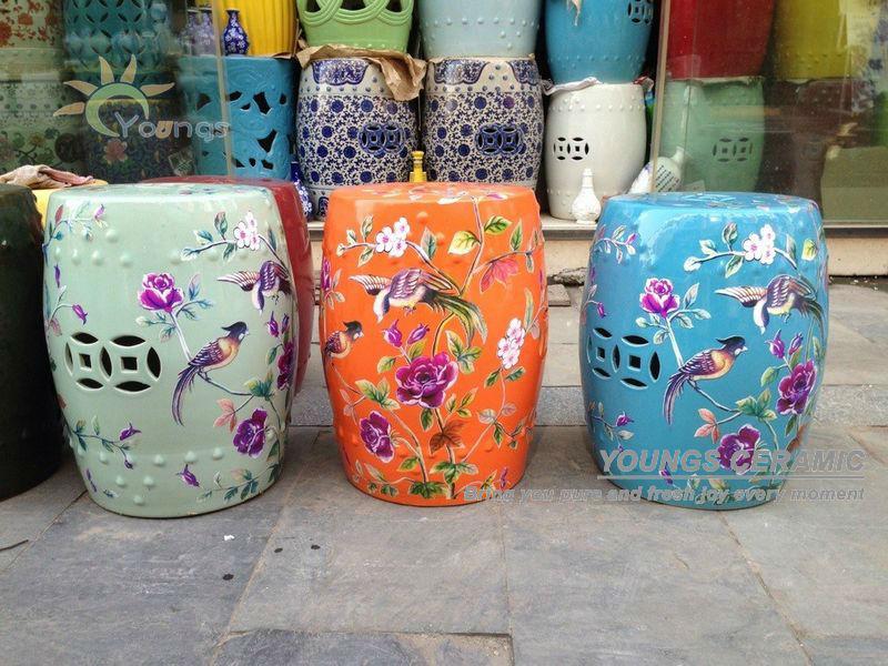 Ceramic side table chinese stool ceramic stool product on alibaba com