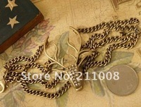 Винтажный браслет new vintage alloy punk style rhinestone deer head bracelet / hand chain