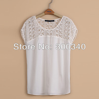 Женские блузки и Рубашки ladies summer hollow out shoulder shirt women cotton and chiffon sleevess blouse women fashion top ZA-383